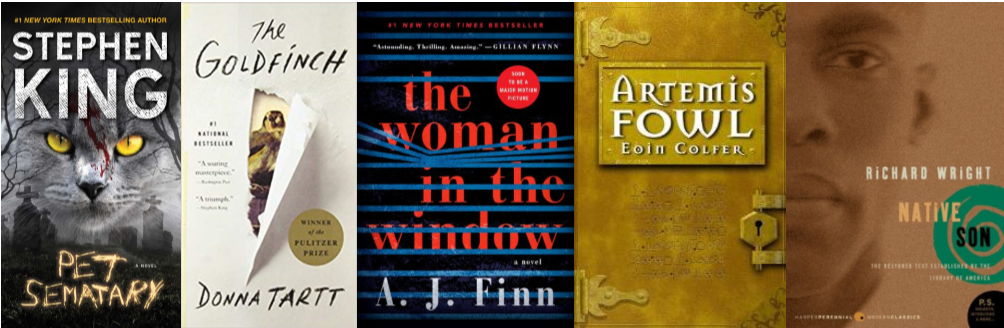 Covers for books mentioned in the blog