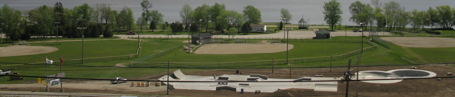 Overview of three New Liskeard Ball Diamonds
